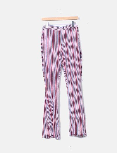 Lefties Pantalon Tricot Rayas Campana Descuento 45 Micolet