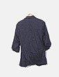 Blazer gris oscura mangas abullonadas Zara