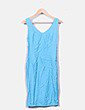Conjunto vestido y blazer azul NoName