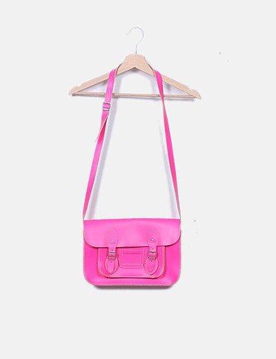 Bolso satchel fucsia
