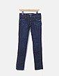 Jeans denim oscuro pitillo Mango