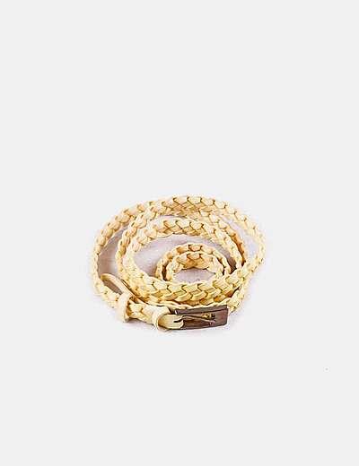 Cinturón trenzado amarillo