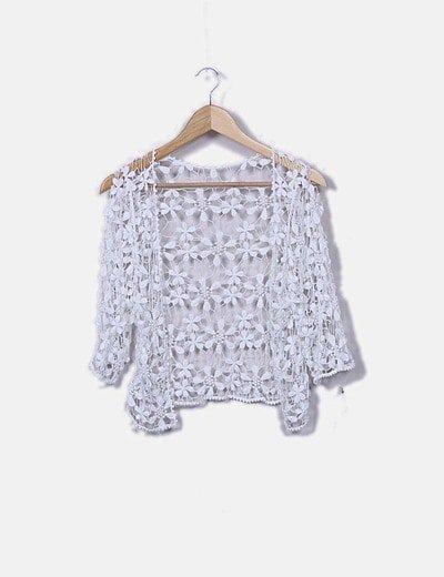 Torera crochet blanca
