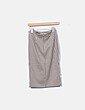 Falda tubo cuadros Mango