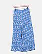 Pantalón fluido azul floral Zara