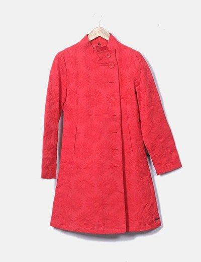 Abrigo rojo girasoles