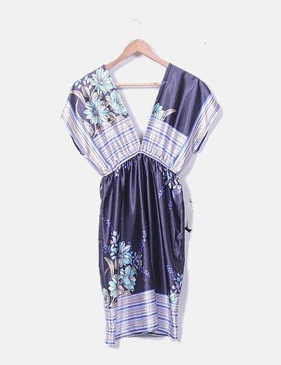 Camiseta estilo kimono satinado estampado