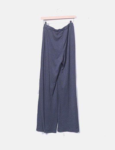 Zara Pantalon Gris Pata De Elefante Descuento 67 Micolet
