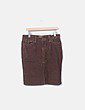 Falda de pana marrón Massimo Dutti