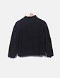 Jersey tricot negro Adolfo Dominguez