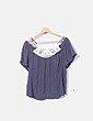 Blusa gris con crochet Vero Moda