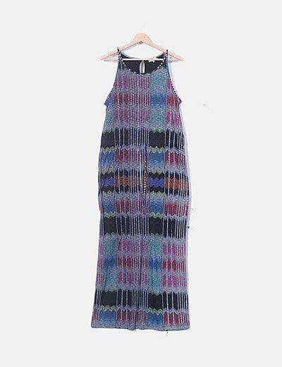 Vestido de tirantes multicolor