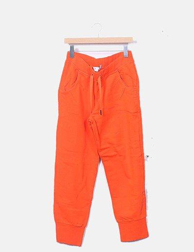 Pantalón jogger naranja