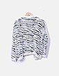 Jersey de rayas fluido detalle pelo Easy Wear