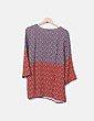 Blusa bicolor estampada Elena Miró