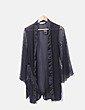 Kimono lencero encaje negro Hunkemoller