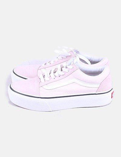 vans mujer zapatillas plataforma rosa