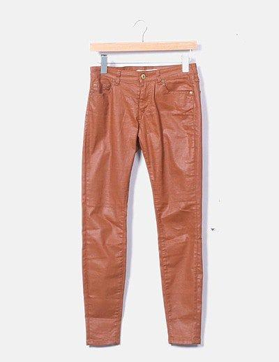 Pantalón encerado marrón