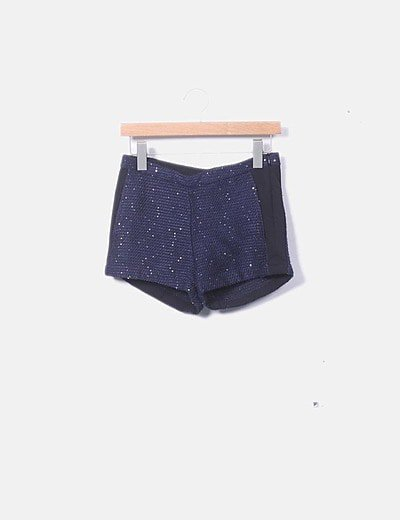 Short azul paillettes