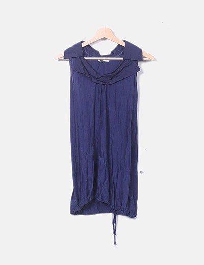 Camiseta larga azul marina