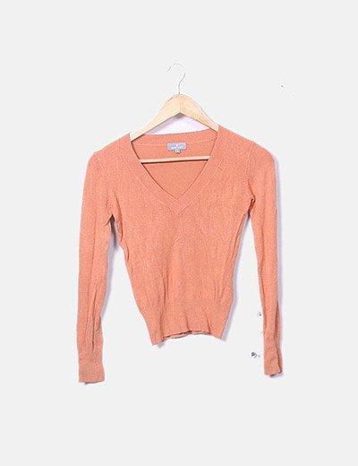 Suéter tricot naranja