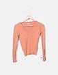 Suéter tricot naranja Naf Naf