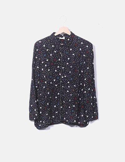 Camisa negra estampado estrellas