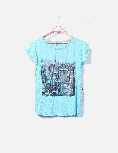 Camiseta de manga corta estampada