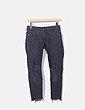 Jeans denim pitillo negro ripped H&M