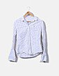 Camisa blanca rayas azules Lacoste
