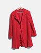 Abrigo largo paño rojo Purificación García