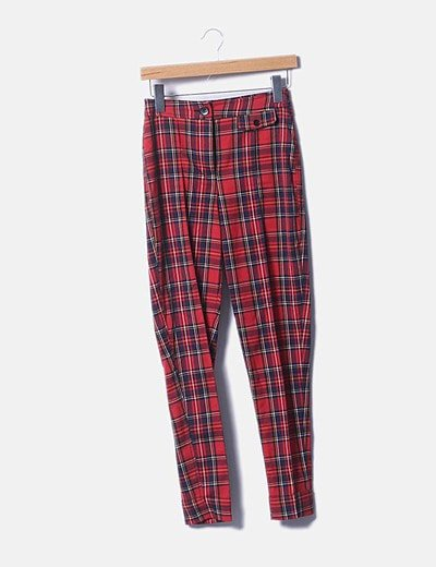 Pantalón cuadros rojos