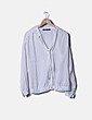 Blusa seda blanca lace up Zara
