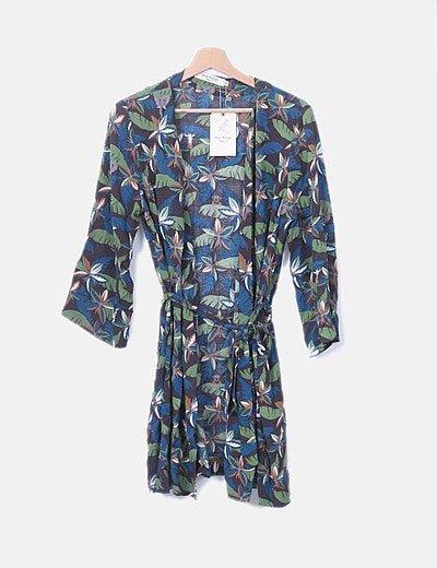 Kimono print tropical
