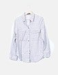 Camisa blanca rayas negras Mango