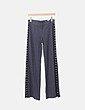 Pantalón gris raya diplomática enganches laterales Zara