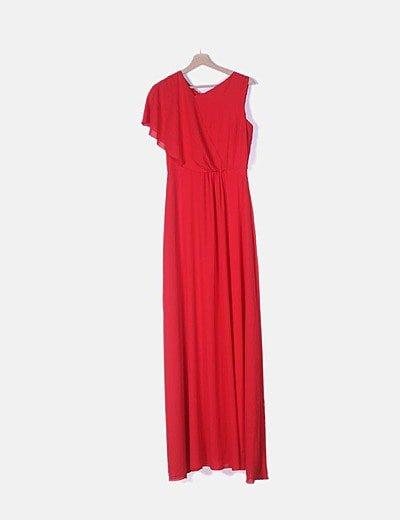 Vestido maxi fluido rojo