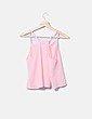 Blusa rosa con encaje lm