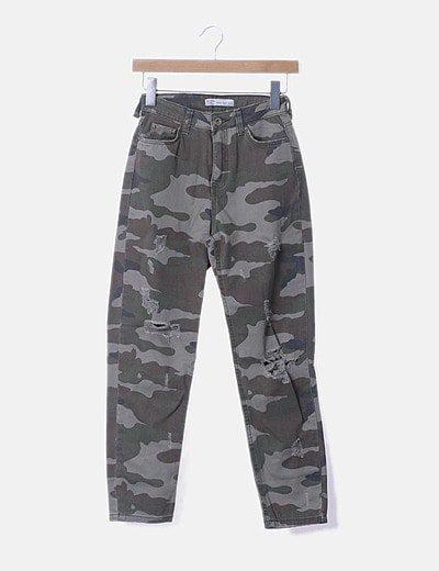 Bershka Pantalon Denim Militar Descuento 77 Micolet