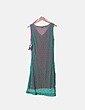 Vestido crochet verde combinado Eduardo Rojo