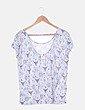 Camiseta gris estampada Undiz