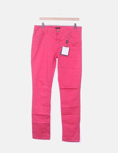 Jeans denim super skinny fucsia