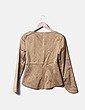 Conjunto de blazer y falda dorada Trucco