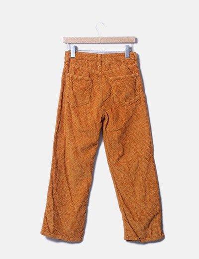 Zara Pantalon Pana Naranja Descuento 75 Micolet
