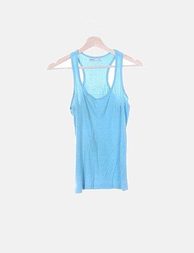 Camiseta azul nadadora