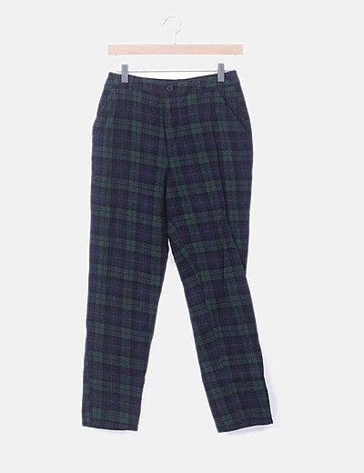 Pantalón chino de cuadros