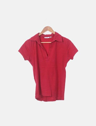 Polo rojo manga corta