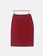 Falda midi roja detalle bordado Adolfo Dominguez