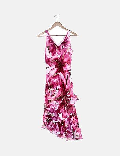 Maxi vestido floral rosa