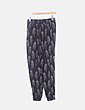 Pantalón jogging negro estampado Zara